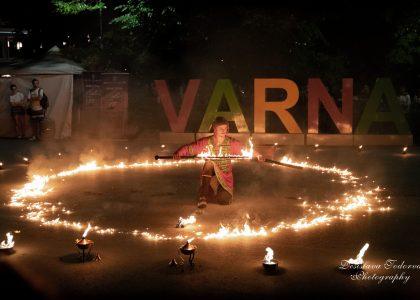 огнено и светлинно шоу за фестивали снимка 2