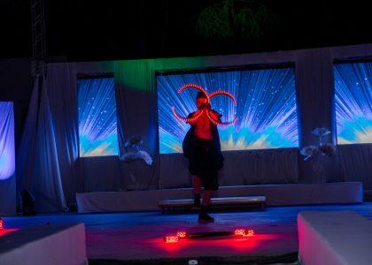 огнено и светлинно шоу за фирмено събитие снимка 2